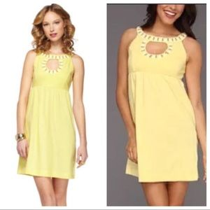 Lilly Pulitzer Yellow Grace Embellished Bead Dress